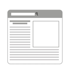 template windows isolated icon vector image