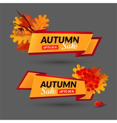 Set with banners autumn sale event vector