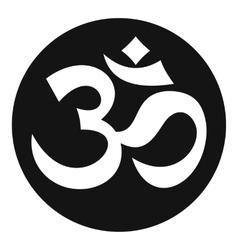 Symbol aum icon simple style vector