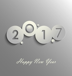 Abstract grey New Years wishes design template vector image