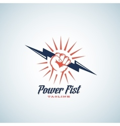 Power fist abstract emblem symbol or logo vector