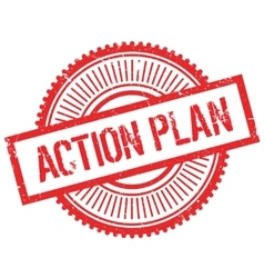 Action plan stamp vector