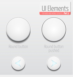 light ui elements part 3 round vector image