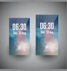 Smartphone wallpaper designs vector