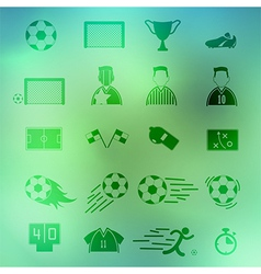 Soccer icons set on background eps10 vector