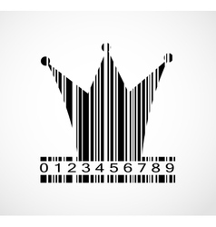 Barcode Princess Crown Image vector image
