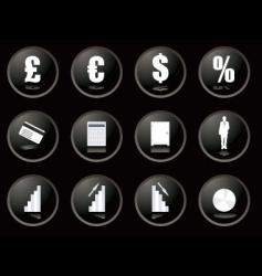 buttons financial vector image