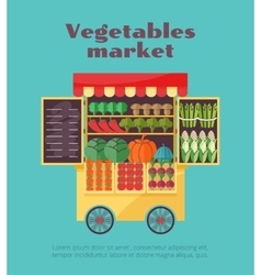 Farm vegetables market street vending vector