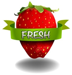 Strawberry with fresh banner vector