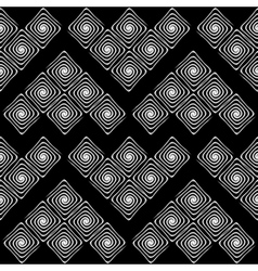 Design seamless monochrome labyrinth pattern vector