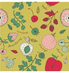 fruit kitchen wallpaper vector image