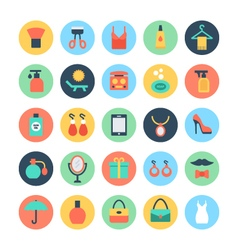Fashion and beauty colored icons 3 vector