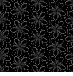 background with gray seamless pattern of flowers vector image vector image
