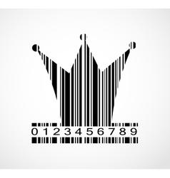 Barcode princess crown image vector