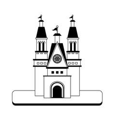 big castle icon image vector image vector image