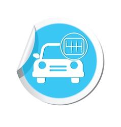 cars transmission BLUE LABEL vector image vector image