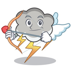 cupid thunder cloud character cartoon vector image