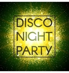 Disco night party banner vector