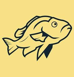 Fish Line Art vector image