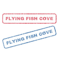 Flying fish cove textile stamps vector