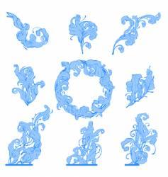 frozen leafs vector image vector image