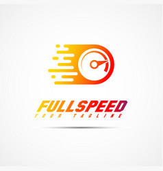 full speed logo vector image vector image