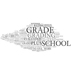 Grading word cloud concept vector