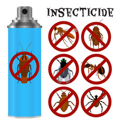 Insecticides set in flat style vector