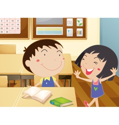 Kids at school vector image