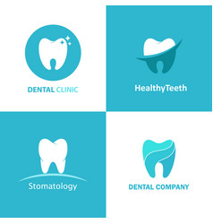 logo dental clinic set vector image