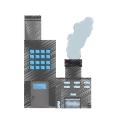 Manufacture building pollution pipes drawing vector