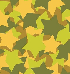 Military texture from stars Army background vector image