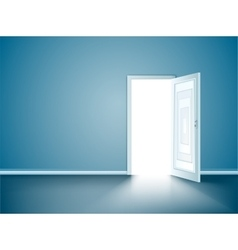 opened wood door vector image