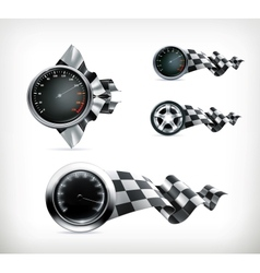 Racing emblems vector image vector image