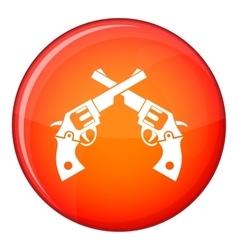 Revolvers icon flat style vector