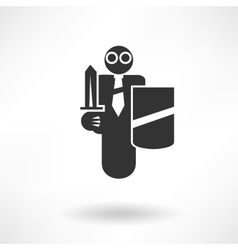 Security guard icon vector