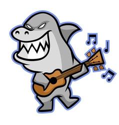 Shark Musician vector image