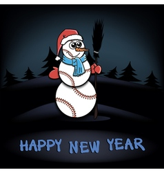 Snowman of baseball vector