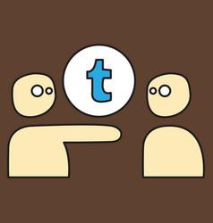 Unusual look tumblr social media icons vector
