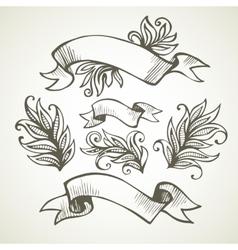 Vintage Ribbon Hand drawn vector image vector image
