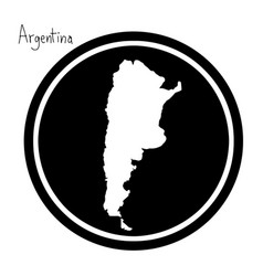 white map of argentina vector image