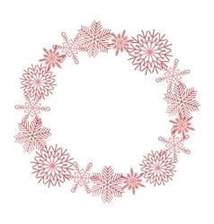 Winter snowflakes wreath vector image