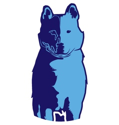 Wolfblue vector