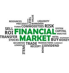 Word cloud financial market vector