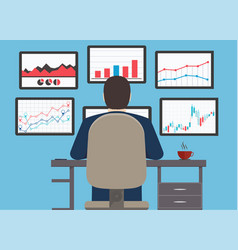Workstation web analytics information vector