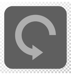 Rotate right rounded square button vector