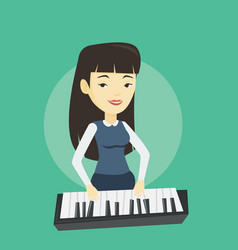 woman playing piano vector image
