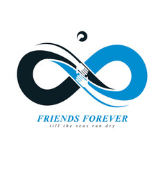 Friends forever everlasting friendship beautiful vector