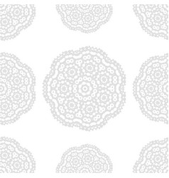 Gray and white fantasy seamless pattern with vector