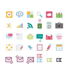 Modern web icons vector